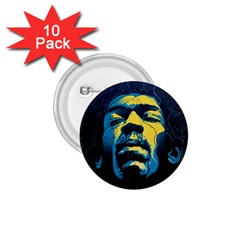 Gabz Jimi Hendrix Voodoo Child Poster Release From Dark Hall Mansion 1 75  Buttons (10 Pack) by Onesevenart
