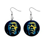 Gabz Jimi Hendrix Voodoo Child Poster Release From Dark Hall Mansion Mini Button Earrings