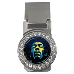 Gabz Jimi Hendrix Voodoo Child Poster Release From Dark Hall Mansion Money Clips (cz)  by Onesevenart