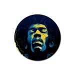 Gabz Jimi Hendrix Voodoo Child Poster Release From Dark Hall Mansion Rubber Coaster (Round)