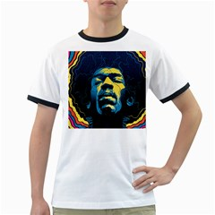 Gabz Jimi Hendrix Voodoo Child Poster Release From Dark Hall Mansion Ringer T Shirts by Onesevenart