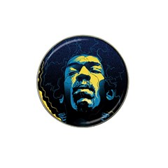 Gabz Jimi Hendrix Voodoo Child Poster Release From Dark Hall Mansion Hat Clip Ball Marker by Onesevenart