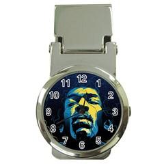 Gabz Jimi Hendrix Voodoo Child Poster Release From Dark Hall Mansion Money Clip Watches by Onesevenart