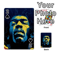 Gabz Jimi Hendrix Voodoo Child Poster Release From Dark Hall Mansion Playing Cards 54 Designs  by Onesevenart