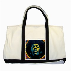 Gabz Jimi Hendrix Voodoo Child Poster Release From Dark Hall Mansion Two Tone Tote Bag by Onesevenart