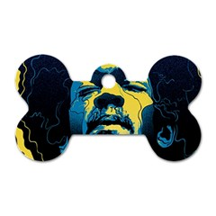 Gabz Jimi Hendrix Voodoo Child Poster Release From Dark Hall Mansion Dog Tag Bone (one Side) by Onesevenart