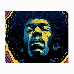 Gabz Jimi Hendrix Voodoo Child Poster Release From Dark Hall Mansion Small Glasses Cloth (2 Side) by Onesevenart