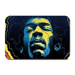 Gabz Jimi Hendrix Voodoo Child Poster Release From Dark Hall Mansion Plate Mats by Onesevenart