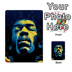 Gabz Jimi Hendrix Voodoo Child Poster Release From Dark Hall Mansion Multi Purpose Cards (rectangle)  by Onesevenart