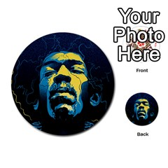 Gabz Jimi Hendrix Voodoo Child Poster Release From Dark Hall Mansion Multi Purpose Cards (round)  by Onesevenart