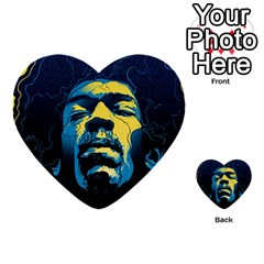 Gabz Jimi Hendrix Voodoo Child Poster Release From Dark Hall Mansion Multi Purpose Cards (heart)  by Onesevenart