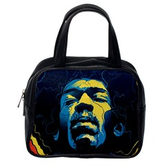Gabz Jimi Hendrix Voodoo Child Poster Release From Dark Hall Mansion Classic Handbags (one Side) by Onesevenart