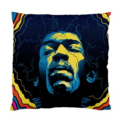 Gabz Jimi Hendrix Voodoo Child Poster Release From Dark Hall Mansion Standard Cushion Case (one Side) by Onesevenart