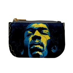 Gabz Jimi Hendrix Voodoo Child Poster Release From Dark Hall Mansion Mini Coin Purses by Onesevenart