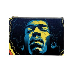 Gabz Jimi Hendrix Voodoo Child Poster Release From Dark Hall Mansion Cosmetic Bag (large)  by Onesevenart