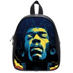 Gabz Jimi Hendrix Voodoo Child Poster Release From Dark Hall Mansion School Bags (Small)