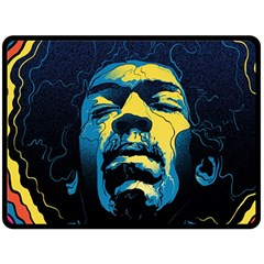 Gabz Jimi Hendrix Voodoo Child Poster Release From Dark Hall Mansion Fleece Blanket (large)  by Onesevenart