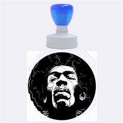 Gabz Jimi Hendrix Voodoo Child Poster Release From Dark Hall Mansion Rubber Round Stamps (large) by Onesevenart