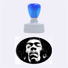 Gabz Jimi Hendrix Voodoo Child Poster Release From Dark Hall Mansion Rubber Oval Stamps by Onesevenart
