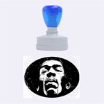 Gabz Jimi Hendrix Voodoo Child Poster Release From Dark Hall Mansion Rubber Oval Stamps