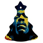 Gabz Jimi Hendrix Voodoo Child Poster Release From Dark Hall Mansion Christmas Tree Ornament (2 Sides)