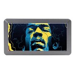 Gabz Jimi Hendrix Voodoo Child Poster Release From Dark Hall Mansion Memory Card Reader (mini) by Onesevenart