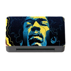Gabz Jimi Hendrix Voodoo Child Poster Release From Dark Hall Mansion Memory Card Reader With Cf by Onesevenart
