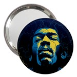 Gabz Jimi Hendrix Voodoo Child Poster Release From Dark Hall Mansion 3  Handbag Mirrors