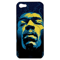 Gabz Jimi Hendrix Voodoo Child Poster Release From Dark Hall Mansion Apple Iphone 5 Hardshell Case by Onesevenart