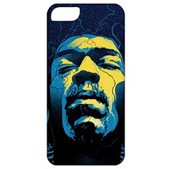 Gabz Jimi Hendrix Voodoo Child Poster Release From Dark Hall Mansion Apple Iphone 5 Classic Hardshell Case by Onesevenart