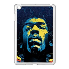 Gabz Jimi Hendrix Voodoo Child Poster Release From Dark Hall Mansion Apple Ipad Mini Case (white) by Onesevenart