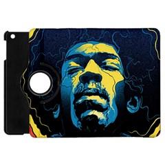 Gabz Jimi Hendrix Voodoo Child Poster Release From Dark Hall Mansion Apple Ipad Mini Flip 360 Case by Onesevenart