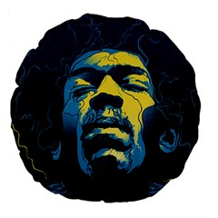 Gabz Jimi Hendrix Voodoo Child Poster Release From Dark Hall Mansion Large 18  Premium Round Cushions by Onesevenart