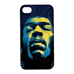 Gabz Jimi Hendrix Voodoo Child Poster Release From Dark Hall Mansion Apple Iphone 4/4s Hardshell Case With Stand by Onesevenart