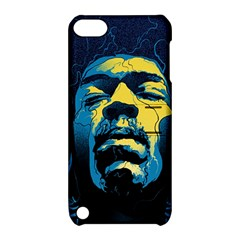 Gabz Jimi Hendrix Voodoo Child Poster Release From Dark Hall Mansion Apple Ipod Touch 5 Hardshell Case With Stand by Onesevenart