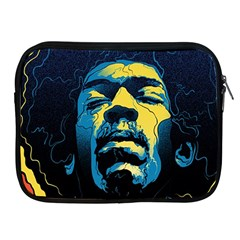 Gabz Jimi Hendrix Voodoo Child Poster Release From Dark Hall Mansion Apple Ipad 2/3/4 Zipper Cases by Onesevenart