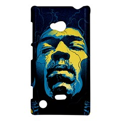 Gabz Jimi Hendrix Voodoo Child Poster Release From Dark Hall Mansion Nokia Lumia 720 by Onesevenart