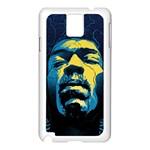 Gabz Jimi Hendrix Voodoo Child Poster Release From Dark Hall Mansion Samsung Galaxy Note 3 N9005 Case (White)