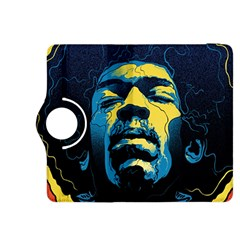 Gabz Jimi Hendrix Voodoo Child Poster Release From Dark Hall Mansion Kindle Fire Hdx 8 9  Flip 360 Case by Onesevenart