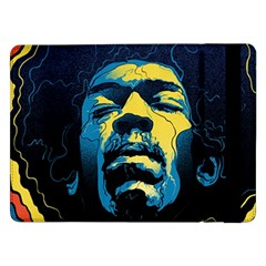 Gabz Jimi Hendrix Voodoo Child Poster Release From Dark Hall Mansion Samsung Galaxy Tab Pro 12 2  Flip Case by Onesevenart