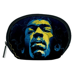 Gabz Jimi Hendrix Voodoo Child Poster Release From Dark Hall Mansion Accessory Pouches (medium)  by Onesevenart
