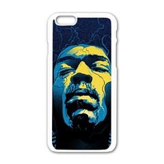 Gabz Jimi Hendrix Voodoo Child Poster Release From Dark Hall Mansion Apple Iphone 6/6s White Enamel Case by Onesevenart