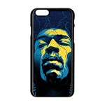 Gabz Jimi Hendrix Voodoo Child Poster Release From Dark Hall Mansion Apple iPhone 6/6S Black Enamel Case