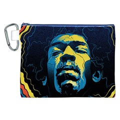 Gabz Jimi Hendrix Voodoo Child Poster Release From Dark Hall Mansion Canvas Cosmetic Bag (xxl) by Onesevenart