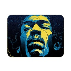 Gabz Jimi Hendrix Voodoo Child Poster Release From Dark Hall Mansion Double Sided Flano Blanket (mini)  by Onesevenart