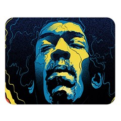 Gabz Jimi Hendrix Voodoo Child Poster Release From Dark Hall Mansion Double Sided Flano Blanket (large)  by Onesevenart