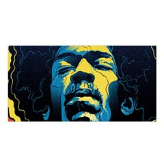 Gabz Jimi Hendrix Voodoo Child Poster Release From Dark Hall Mansion Satin Shawl by Onesevenart