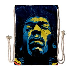 Gabz Jimi Hendrix Voodoo Child Poster Release From Dark Hall Mansion Drawstring Bag (large) by Onesevenart