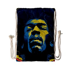 Gabz Jimi Hendrix Voodoo Child Poster Release From Dark Hall Mansion Drawstring Bag (small) by Onesevenart