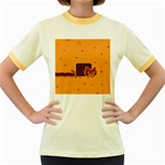 Nyan Cat Vintage Women s Fitted Ringer T-Shirts